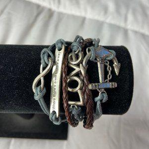Jewelry - Natural Nautical Layered Braided Twine Bracelet